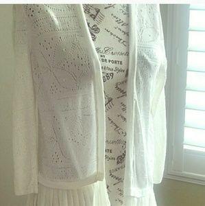August silk pretty white cardigan